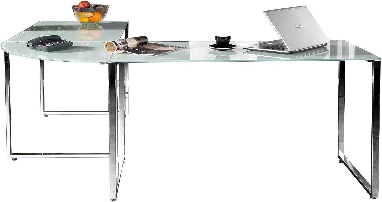 Dunorddesign – Mesa de Escritorio en Esquina Blanco Cristal ...