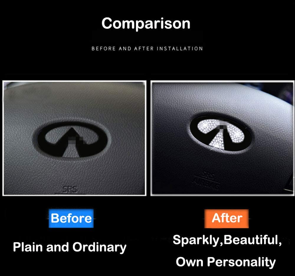 Bling Bling Car Steering Wheel Decorative Diamond Sticker Fit For Mercedes Benz 45mm,DIY Bling Car Steering Wheel Emblem Bling Accessories