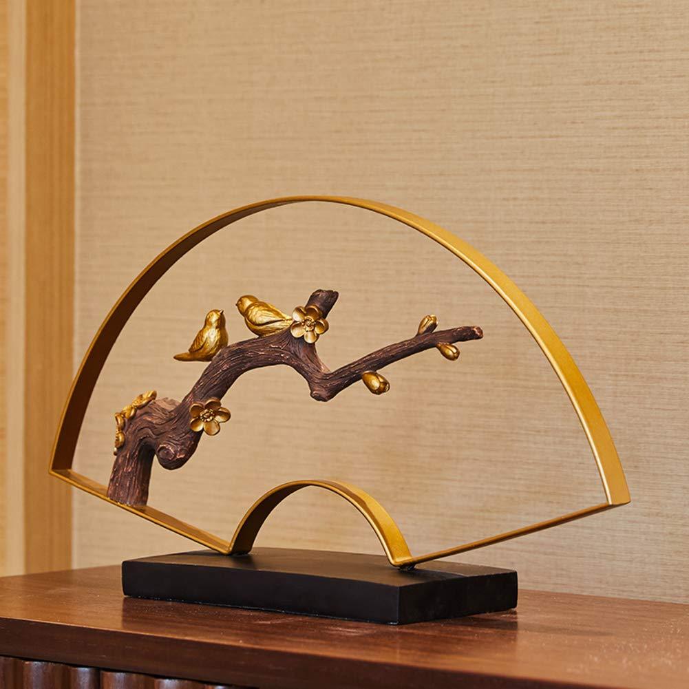 Fabulous Amazon Com Statues Desk Ornaments Fan Branches Birds Bralicious Painted Fabric Chair Ideas Braliciousco