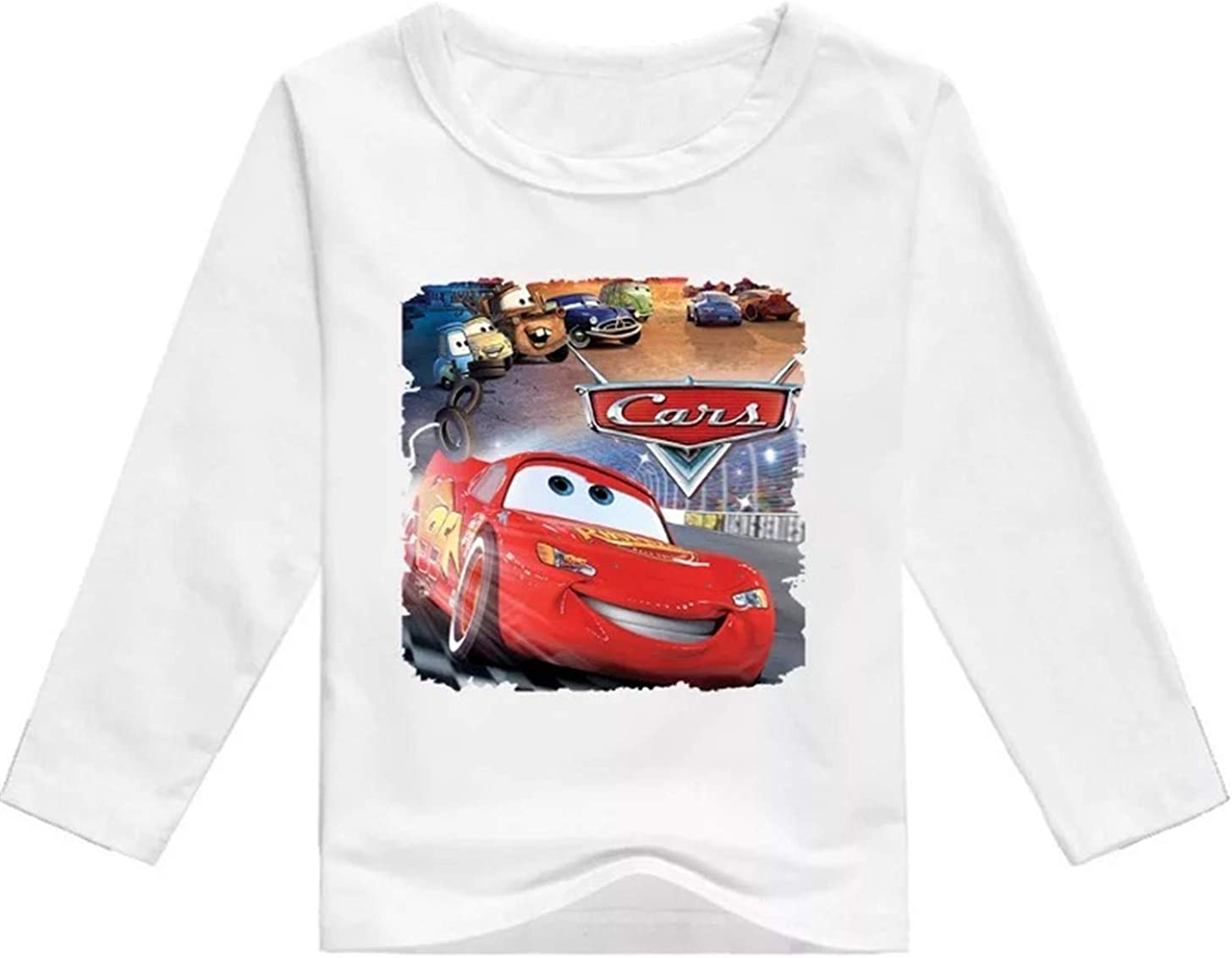2T-12Y,12 Colors Zhuoma GoBen Little Boys McQueen Cars Long Sleeve T Shirts-Unisex Kids Crew Neck T-Shirts