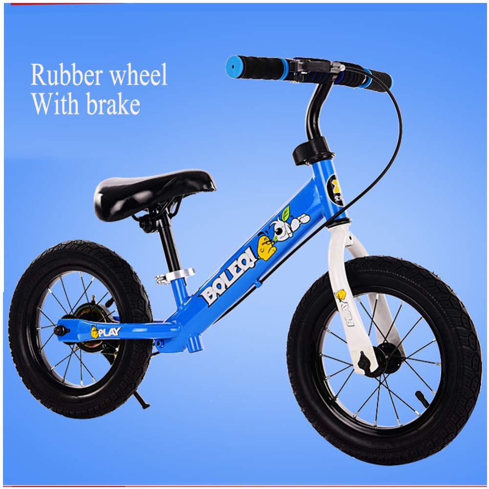 shuhong 12 Zoll Kinder Laufrad Lauflernrad Kinderrad Verstellbarer Lenker Und Sitzhöhe Luftrad Eva-Rad   2-6 Jahre   80-120 cm,B C