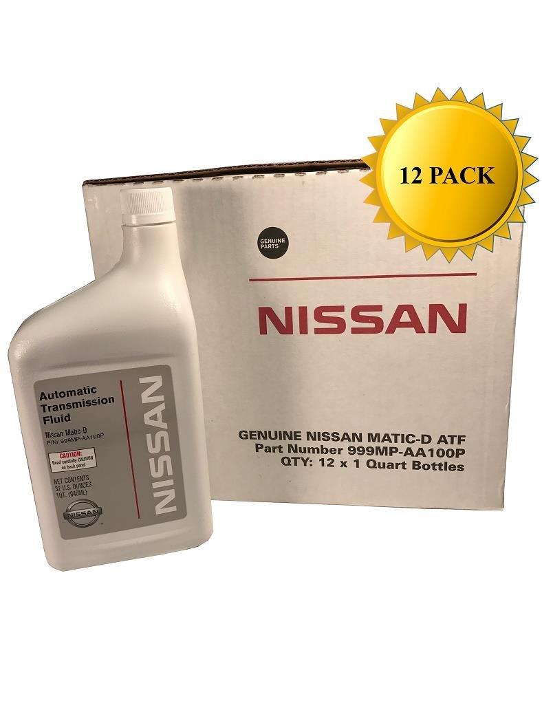 Nissan Genuine OEM Matic-D Transmission Fluid 999MP-AA100P (12 Quarts)