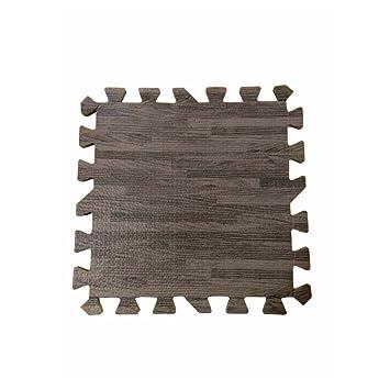 Joint Mat Interlocking Foam Mats EVA Foam Floor Mats (9 Tiles) Brown Wood  Grain