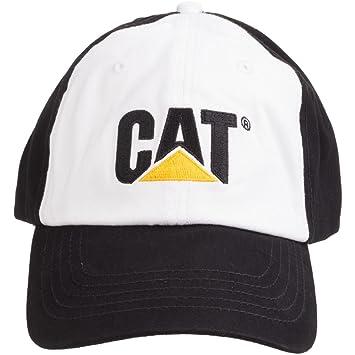 4e3c2d7af5120 Caterpillar CAT Logo Twill Black Cap Black - Itm  Amazon.co.uk ...