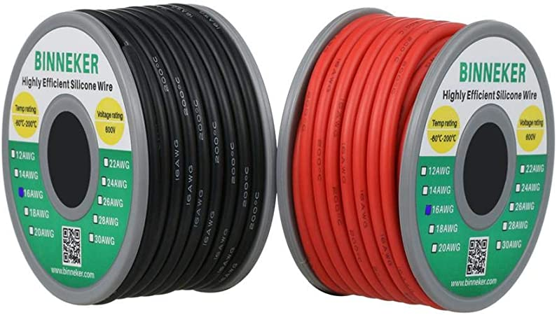 Blue Flexible Copper Cable Wire 18 Awg 16 Strand 600V 25 FT