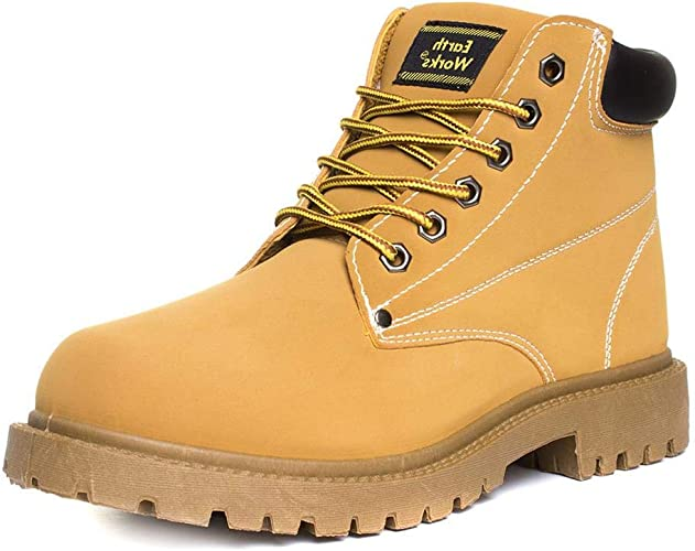 Earth Works Mens Lace Up Boot in Honey
