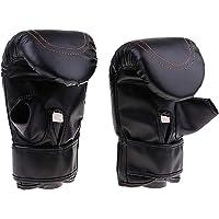 D DOLITY Durable Half Fingers Thumb Gloves for Sanda/Taekwondo/Muay Thai/MMA/Boxing/Sparring/Pouching Bag