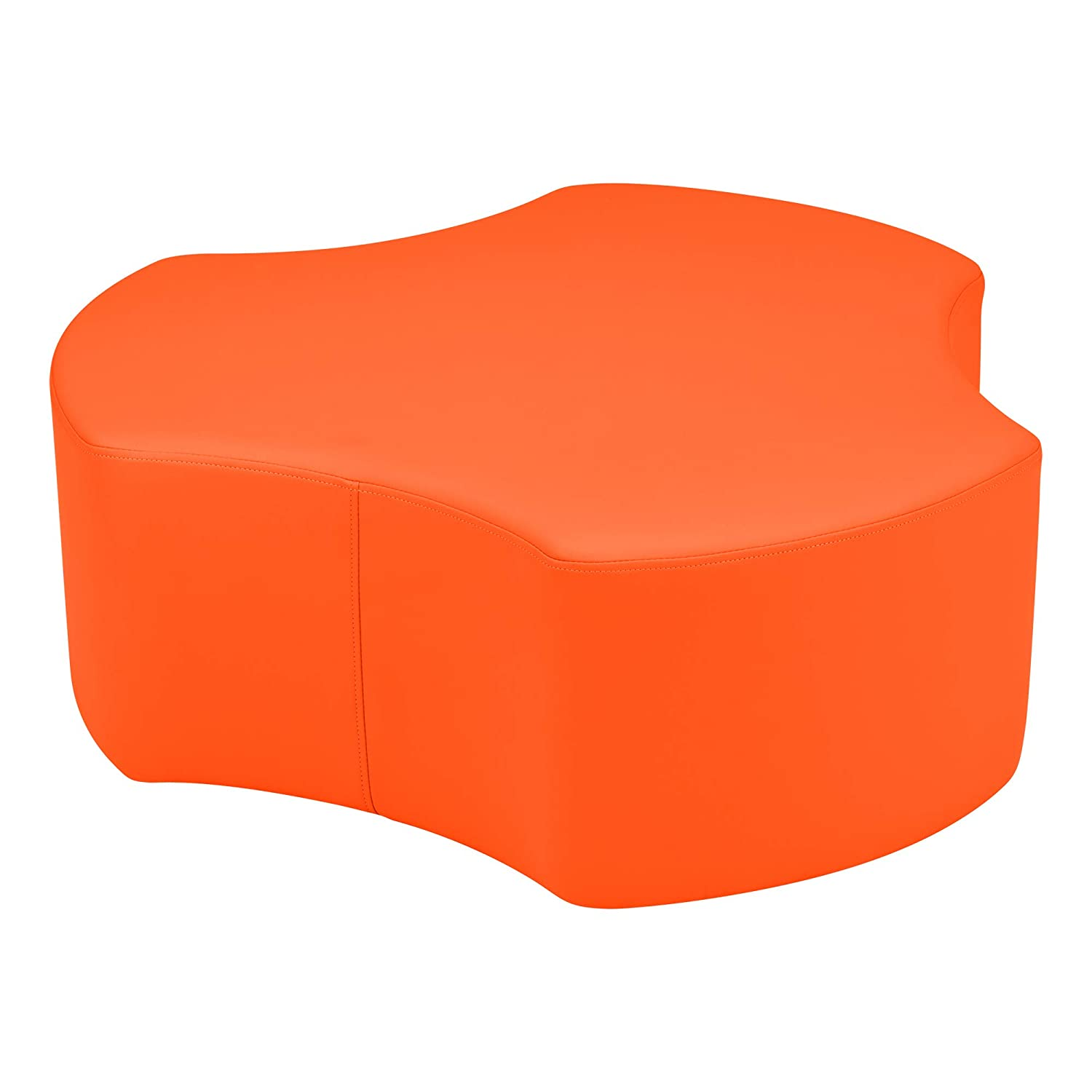 SPG-1015BL-A 18 H Sprogs Vinyl Soft Seating Gear Stool Blue