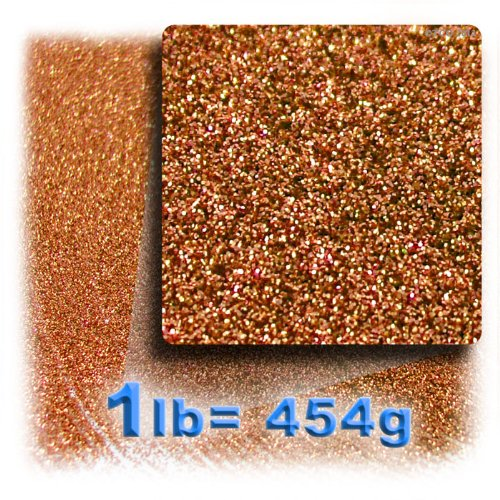 Price comparison product image The Crafts Outlet Polyester Glitter Dust Metallic Powder,  1-Pound,  Copper