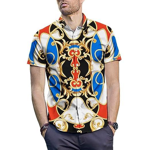 Camisas para hombre Camisa con estampado vintage para hombre ...