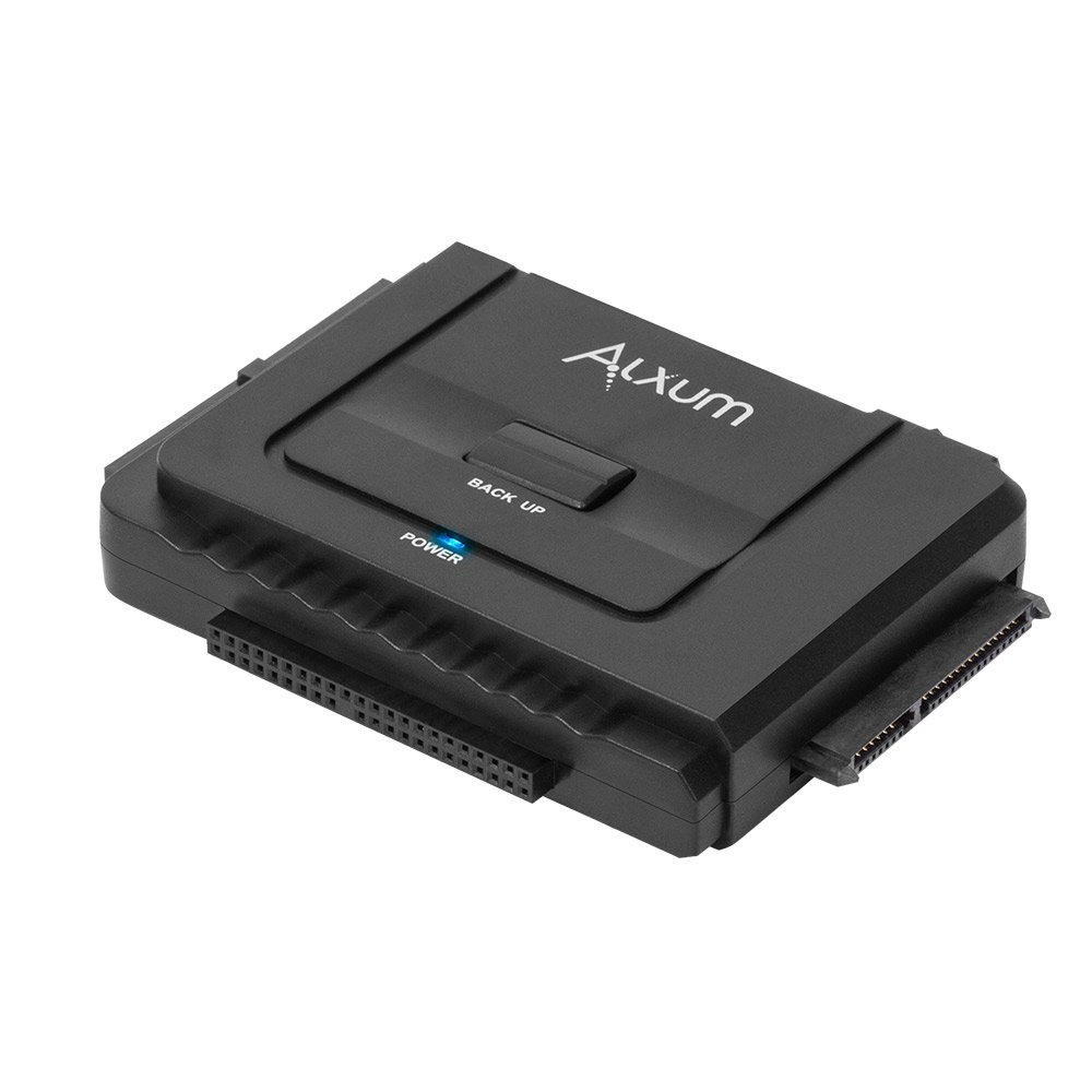 Alxum USB 3.0 to IDE/SATA Converter Hard Drive Adapter for Universal 2.5''/3.5'' SATA HDD/SDD & IDE HDD Drives Optical Drive, Support 6TB, with 12V/2A Power Adapter & USB 3.0 Cable for Laptop