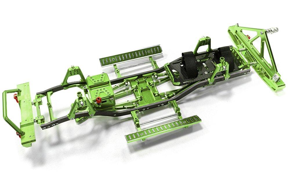 Integy RC Model Hop-ups C26937Grün Composite Ladder Frame Chassis Kit w/ Hop-up Combo for SCX-10, Dingo Honcho Jeep