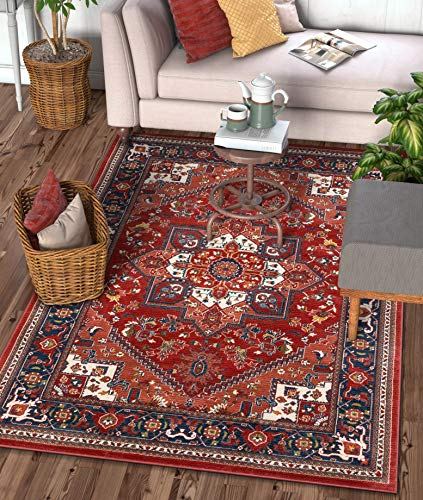 Well Woven Jada Red Traditional Medallion Area Rug 5x7 (5