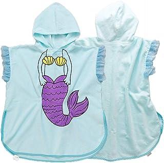 Tunica con cappuccio spa Asciugamano da bagno con cappuccio per bambini Asciugamani da spiaggia Asciugamano da spiaggia per piscina da bagno Asciugamano in cotone con poncho ultra assorbente Pile legg