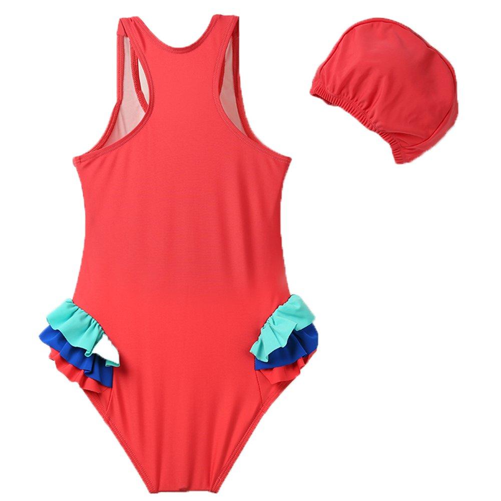 KISSOURBABY Girls One Piece Swimsuit,Kids Bathing Suit