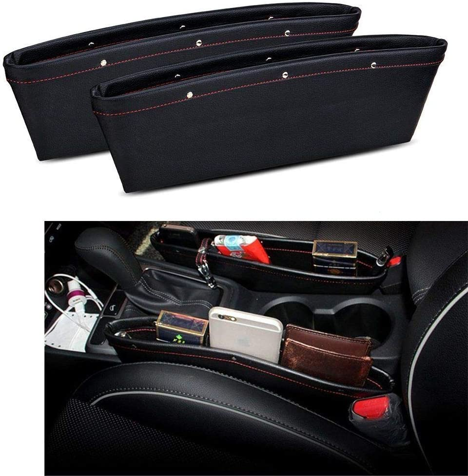 Seat Pocket Car Gap Filler Console Caddy Catcher  Item PU Leather Pack of 2 DO/&CA