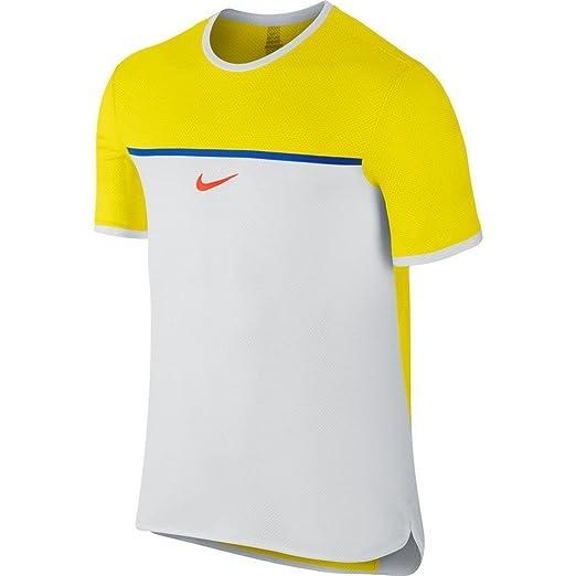 690fe5db Amazon.com: Nike Mens Dri-Fit Challenger Premier Rafa Crew Tennis Shirt  728956 (Large): Clothing