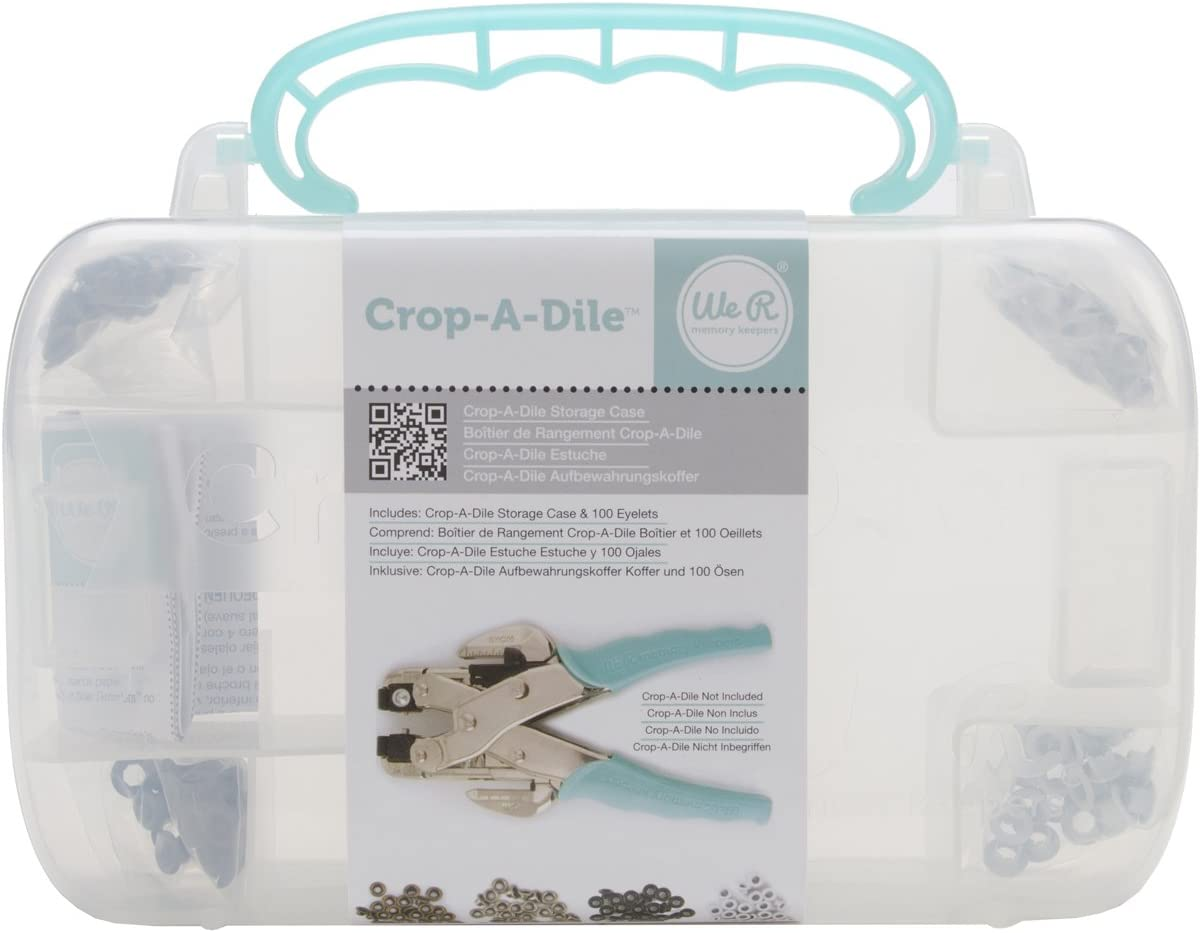 We R Memory Keepers Crop-A-Dile Eyelet and Punch Kit Pink