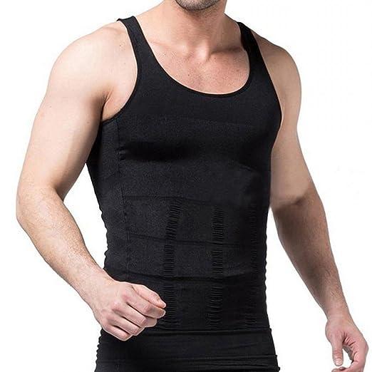 bc3d4e55d76 MISS MOLY Mens Slim Body Shaper Vests Shirt Abs Abdomen Slimming Shirt  Tummy Waist Vest Lose