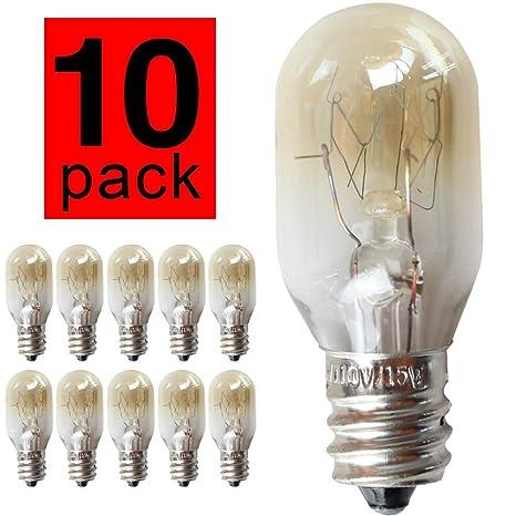 glow bombilla T20 10 Piezas/Paquete 15W 120V E14 Tapa ...