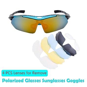 Amazon.com: Maso - Gafas de sol deportivas polarizadas UV400 ...