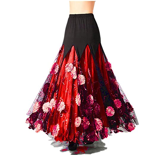 Vintage Ladies Flamenco Ballroom Dance Waltz Big Swing Lentejuelas ...