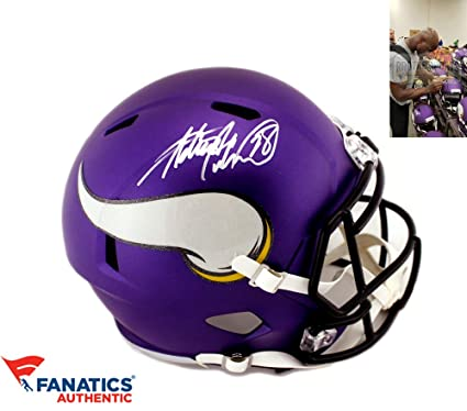0182edce Amazon.com: Adrian Peterson Autographed/Signed Minnesota Vikings Riddell  Speed Full Size NFL Helmet: Sports Collectibles