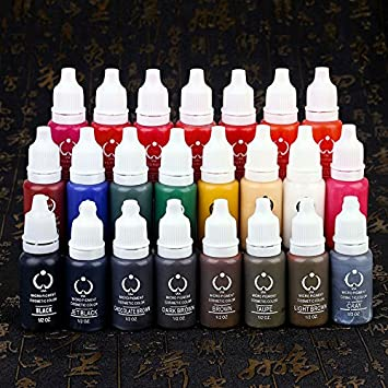Wholesale-23pcs biotouch tattoo ink set pigments permanent makeup ...