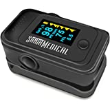 Santamedical Dual Color OLED Pulse Oximeter Fingertip, Blood Oxygen Saturation Monitor (SpO2) with Case, Batteries and…