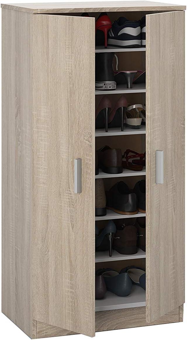 HABITMOBEL Mueble Zapatero, 2 Puertas, Madera Melamina, 108 x 55 x 36 cm de Fondo: Amazon.es: Hogar