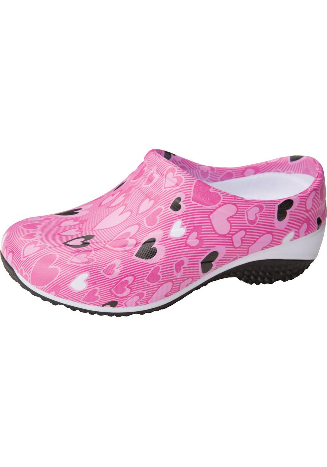 AnyWear Women's Exact Slip Resistant Clog,All About Love,US 5 M