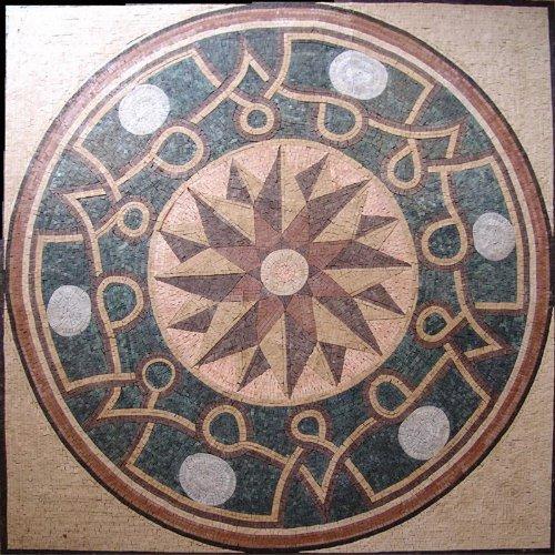 Roman Floor Moisac Art Tile - Papillon