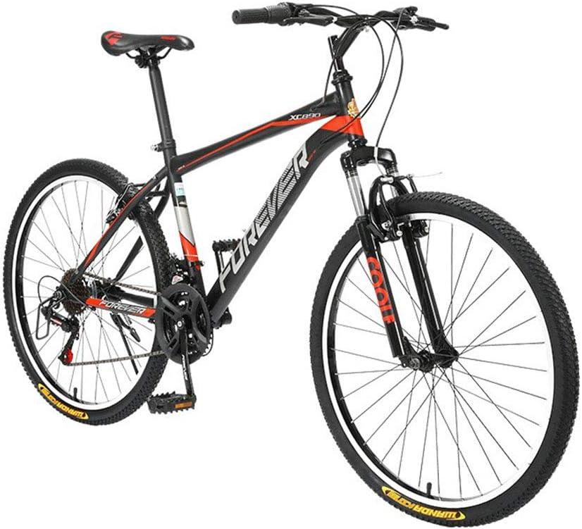 Xue Bicicleta de montaña con suspensión Delantera de Aluminio de 26 Pulgadas 21 Velocidad de transmisión Puede ser Usado para Treck y Trekking