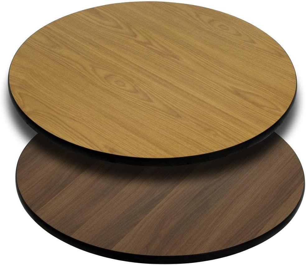 Flash Furniture Round Table Top 36 Natural Walnut