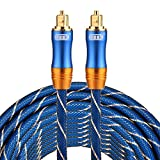 Optical Cables, EMK LSYJ-A 8m OD6.0mm Gold Plated Metal Head Toslink Male to Male Digital Optical Audio Cable