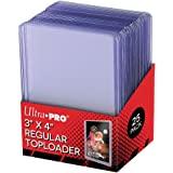 Ultra Pro 25 3 X 4 Top Loader Card Holder for Baseball, Football, Basketball, Hockey, Golf, Single Sports Cards Top Loads - S