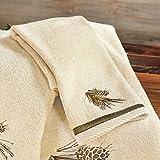Black Forest Decor Pine Cone Diamond Fingertip Towel