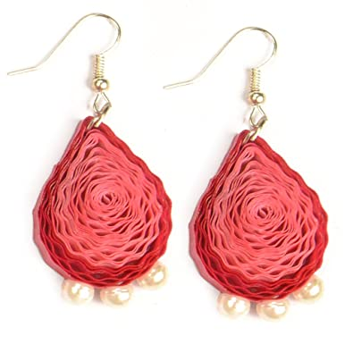 07d6fa350 Garlynn's Designer Quilling Paper Earrings for Girls: Amazon.in: Jewellery