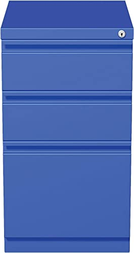 Hirsh Industries 20 Deep Box Box File Mobile Pedestal, Blue, 19356