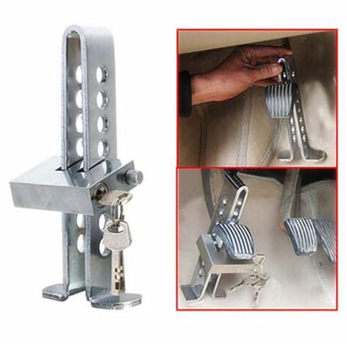 Dispositivo antirrobo para coches, bloqueo del freno y el embrague, herramienta de seguridad de acero: Amazon.es: Coche y moto