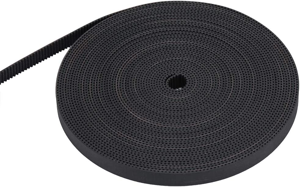 2GT Timing Belt Width 9mm Rubber Drive Belt Pack of 10Meters and 2GT Timing Pulley 16 Teeth 5mm Bore Pack of 8Pcs