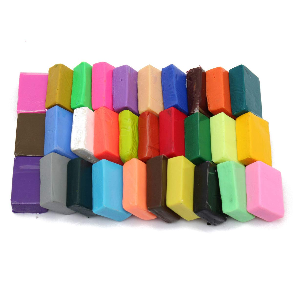 Sala-Deco - Universal 32 Color Oven Bake Polymer Clay Block Modelling Moulding DIY Muticolor Handmade Education Craft Children Favorite