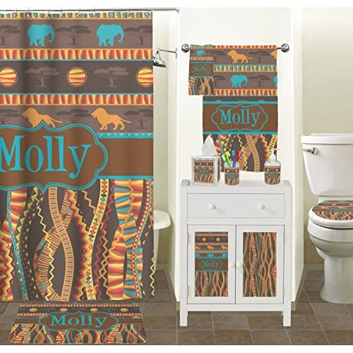 African Lions & Elephants Toilet Seat Decal - Elongated (Personalized) lovely