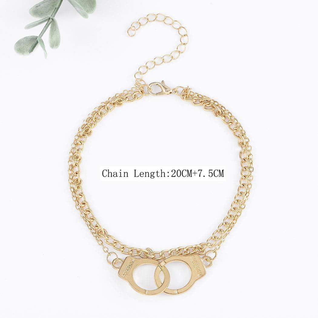 Bohend Ancien Bracelet de cheville Bracelet Or Ajustable Multicouche Bracelets de chevilles Plage Cha/înes de pied Accessoires Bijoux pour Femmes et Filles
