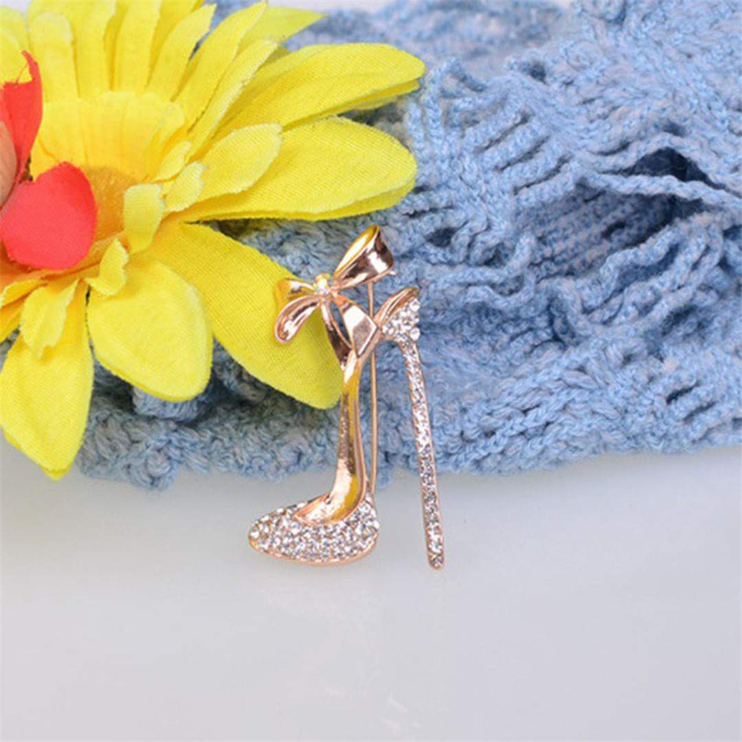 Faliya Exquisite Strass High Heel Schuhe Brosche Pers/önlichkeit Kleidung Hut Schal Brosche f/ür Hochzeitsfest Geschenk