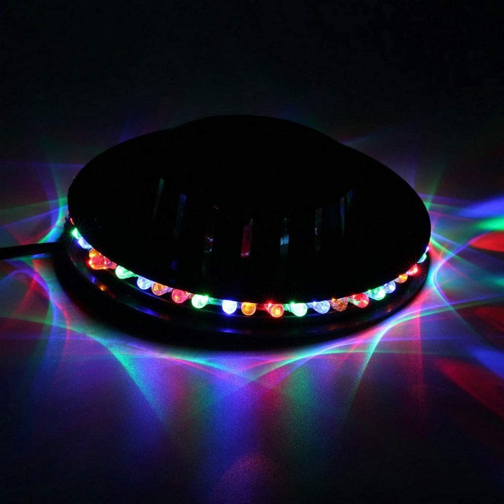 Stage Light Suitable For Disco KTV Family Bar Christmas TWQtwq LED Rotating Flying Saucer Wall-mounted RGB Small Sun Stained Light RGB