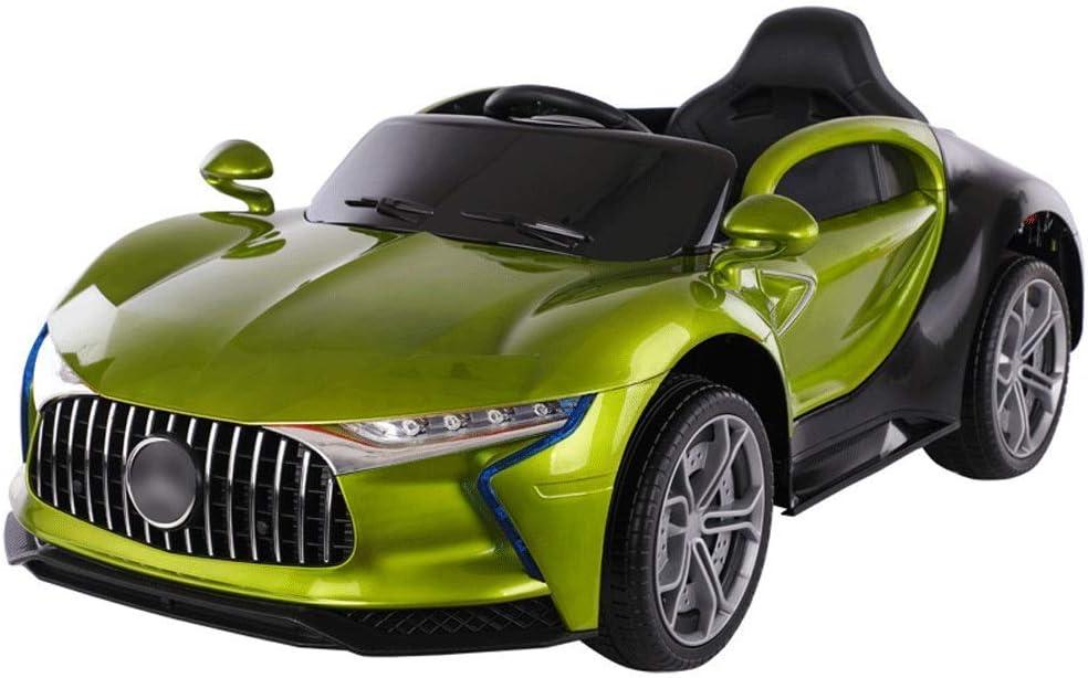 リモートコントロール四輪車のおもちゃの車缶シット男性と女性キッズベビースイング、子供の新年(:緑色)と一緒に乗るには車、子供の電気自動車 (Color : Green)