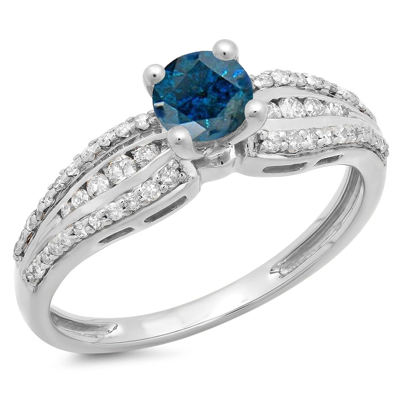 d8b58b33c681 30% de descuento DazzlingRock Collection 0.75 quilates (CTW) 14K oro azul y  diamante