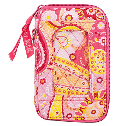 Quilted Fabric Phone Purse Wristlet