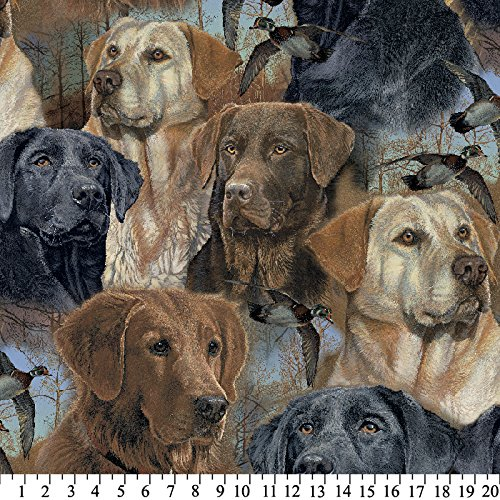 Hunting Dogs Anti-Pill Fleece Fabric By The Yard